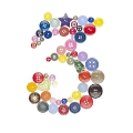 number 3 sewing button clothing