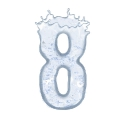 letter number 8 sparkling water sparkle splash ultra realistic PNG transparent