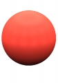 ball 3D sphere planet Rojo